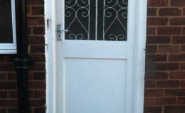 Replace old wooden door with new uPVC