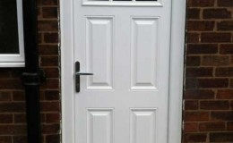 New uPVC door installation