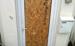 Emergency door boarding service