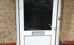 Replaced uPVC door with solid panel