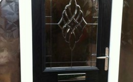 Composite door with polished door furniture