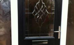 Composite door with polished door furniture