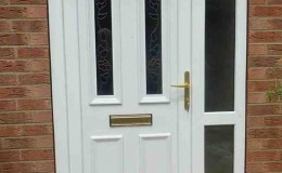 New uPVC door installation with glass sidelite