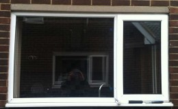 Replacement new glass panel to uPVC window