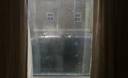 Double glazed misted glass panel