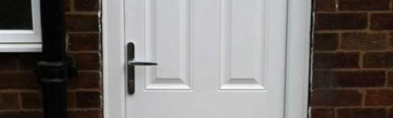 New uPVC door installation