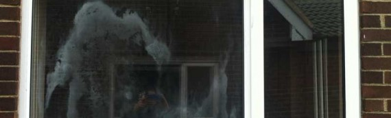 uPVC window with faulty sealed glass unit