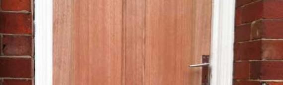 Replacement wooden door, new handles and locks