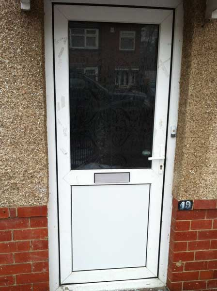 Beau Replaced UPVC Door With Solid Panel