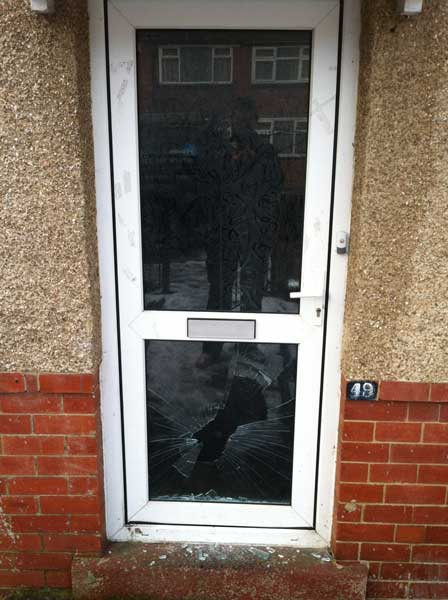Upvc Door With Smashed Lower Glass Panel 171 Homes Secured